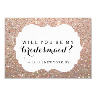WIll You Be My Bridesmaid - Rose Gold Fab Dressed Card