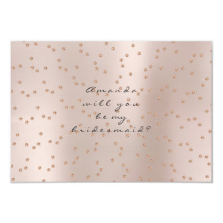 Will You Be My Bridesmaid Rose Gold Swarovski Crys Card