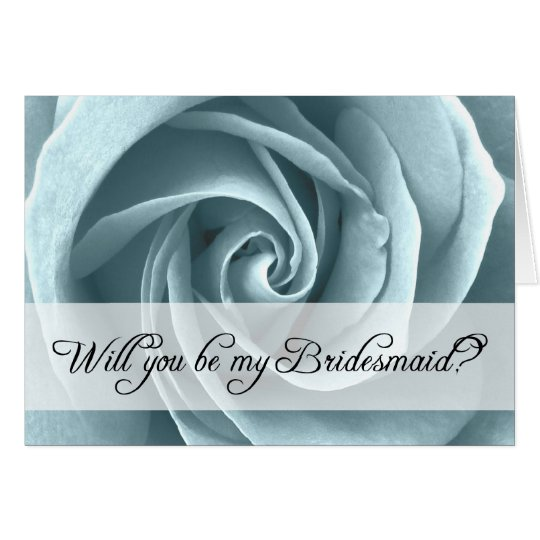 will you be my bridesmaid? : roses card