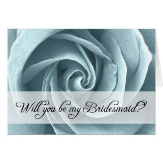 will you be my bridesmaid? : roses greeting card