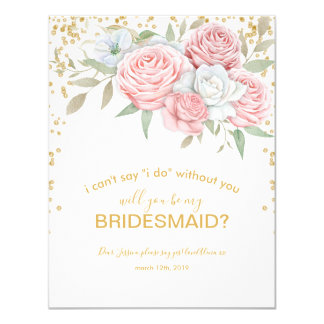 Will you be my Bridesmaid | Rustic Spring Garden Card