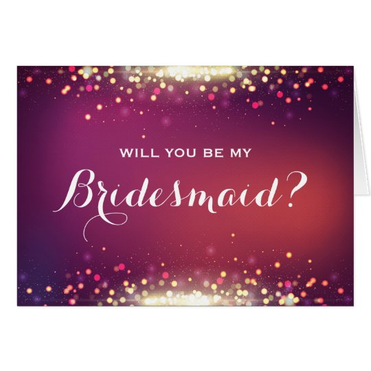 Will you be my Bridesmaid Shiny Gold Sparkle Dots Card