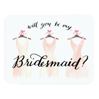 Shop Zazzle's selection of be my bridesmaid invitations for your special day!
