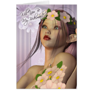 Will you be my Bridesmaid wedding invitaion elf Greeting Card
