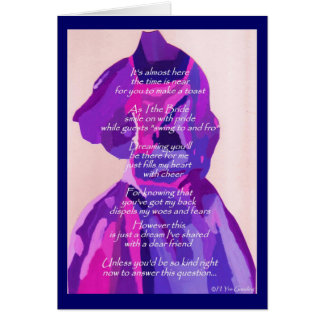 """""""Will You Be My Bridesmaid"""" Winter Blue Card Greeting Cards"""