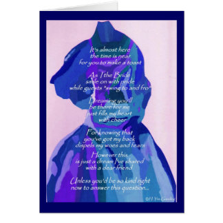 """""""Will You Be My Bridesmaid"""" Winter II Card Cards"""