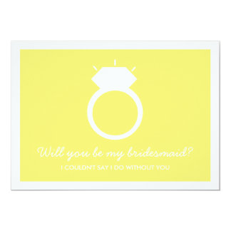 Will You Be My Bridesmaid? Yellow Ring Card