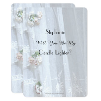 Will You Be My Candle Lighter Vintage Lace Invite