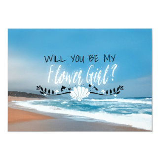 Will You Be My Flower Girl | Beach Flower Girl Card