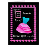 Will You Be My Flower Girl? BLUE & PINK Dress Cards