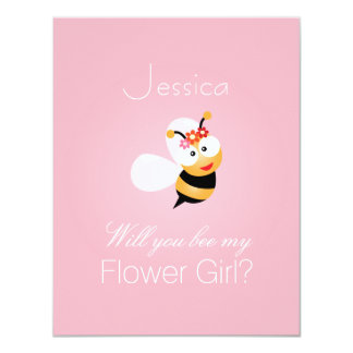 Will You Be My Flower Girl Bridesmaid Funny Cute Card