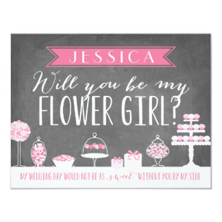Will You Be My Flower Girl | Bridesmaid 11 Cm X 14 Cm Invitation Card