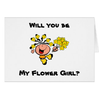 Will you be my Flower Girl cartoon Card