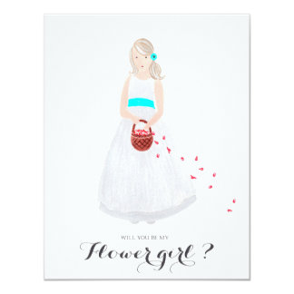 Will you be my flower girl custom card