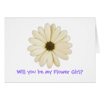 """Will you be my Flower Girl?"" Greeting Cards"