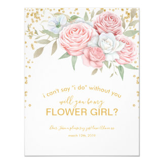 Will you be my Flower Girl | Rustic Spring Garden Card