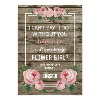 Will you be my Flower Girl | Rustic Vintage Card