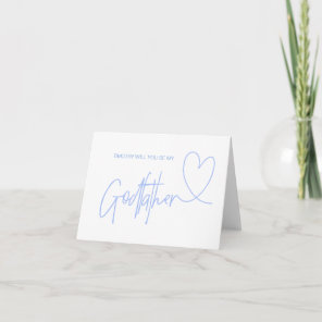 Will You Be My Godfather Proposal Blue Card