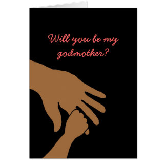 will you be my godmother in pink card ethnic