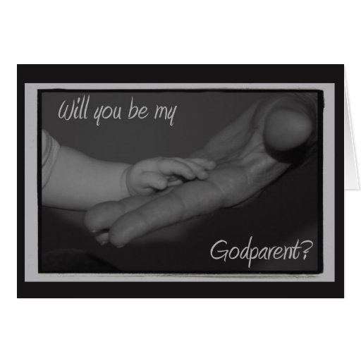 Will You Be My Godparent Card