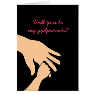 will you be my godparents card