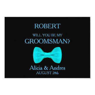 Will you be my Groomsman? 13 Cm X 18 Cm Invitation Card