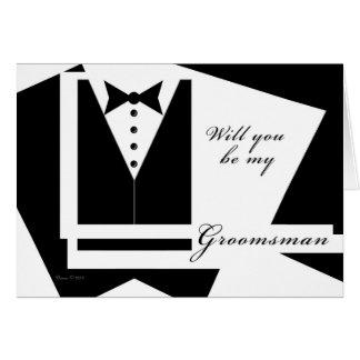 Will you be my Groomsman Blank Card