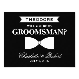 Will you be my Groomsman? | Groomsman 11 Cm X 14 Cm Invitation Card