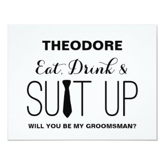 Will you be my Groomsman ? | Groomsman 11 Cm X 14 Cm Invitation Card