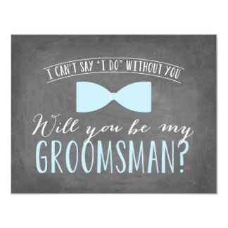 Will you be my Groomsman ? | Groomsmen 11 Cm X 14 Cm Invitation Card