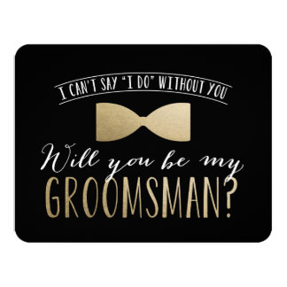 Will you be my Groomsman ? | Groomsmen Card