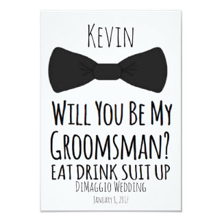 will you be my groomsman? Groomsmen Wedding Invite