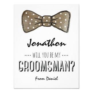 Will You Be My Groomsman? | Rustic Groomsmen Card