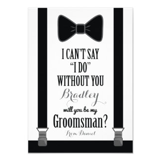 Will You Be My Groomsman - Tuxedo Tie Braces Card