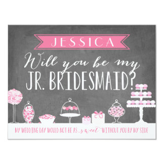 Will You Be My Junior Bridesmaid | Bridesmaid Card