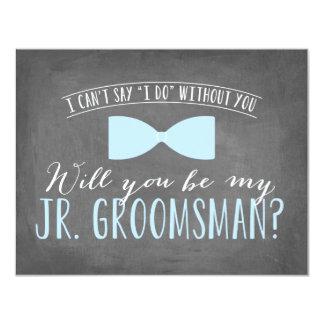Will you be my Junior Groomsman ?   Groomsmen 11 Cm X 14 Cm Invitation Card