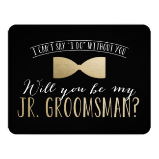Will you be my Junior Groomsman ? | Groomsmen 11 Cm X 14 Cm Invitation Card