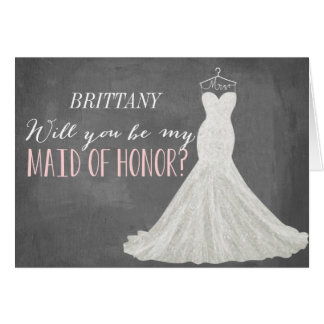 Will You Be My Maid Of Honor | Bridesmaid Card