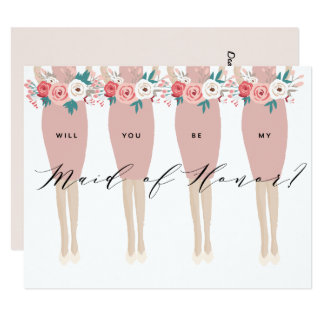 Will You Be My Maid Of Honor? | Bridesmaid Card