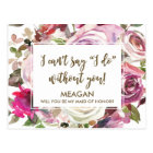 Will you be my maid of honor card personalized