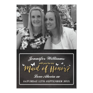 WILL YOU BE MY MAID OF HONOR CARD | PHOTO 13 CM X 18 CM INVITATION CARD