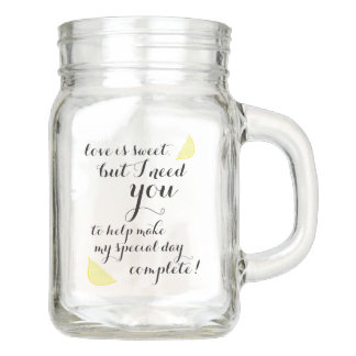 Will You be My Maid of Honor Gift Country Wedding Mason Jar
