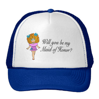 Will You Be My Maid Of Honor? (Girl) Cap
