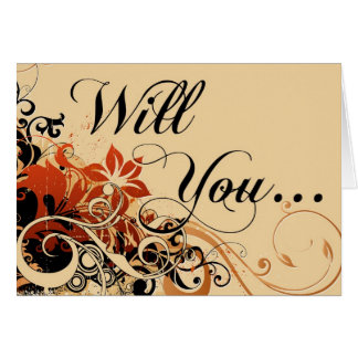 will you be my maid of honor? : island flowers greeting card