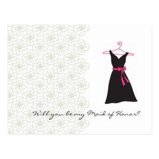 Will You be my Maid of Honor Post Card