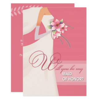 Will you be my Maid of Honor? Wedding Invitations