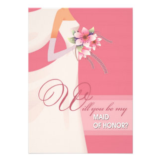 Will you be my Maid of Honor Wedding Invitations