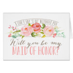 Will You Be My Maid of Honour | Bridesmaid Note Card