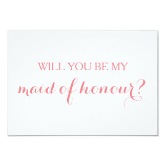 Will You Be My Maid of Honour Card Bridal Party
