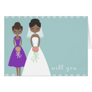 Will You Be My Maid of Honour Greeting Card 2